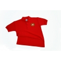 Polo Shirt Red with Crest 11-12 XXL