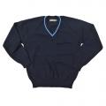 """Navy V-neck Pullover 34"""""""